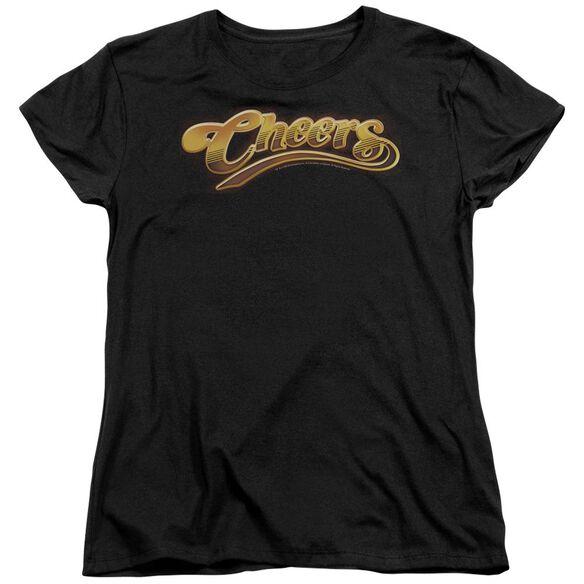 Cheers Cheers Logo Short Sleeve Womens Tee T-Shirt