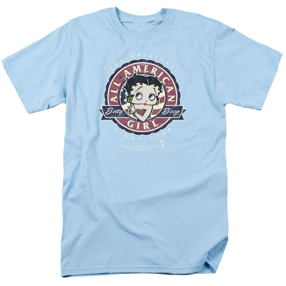 Betty Boop All American Girl Short Sleeve Adult Light T-Shirt