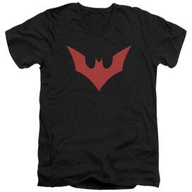 Batman Beyond Beyond Bat Logo Short Sleeve Adult V Neck T-Shirt
