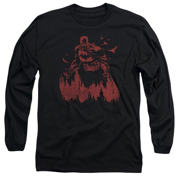 Batman Red Knight Long Sleeve Adult T-Shirt