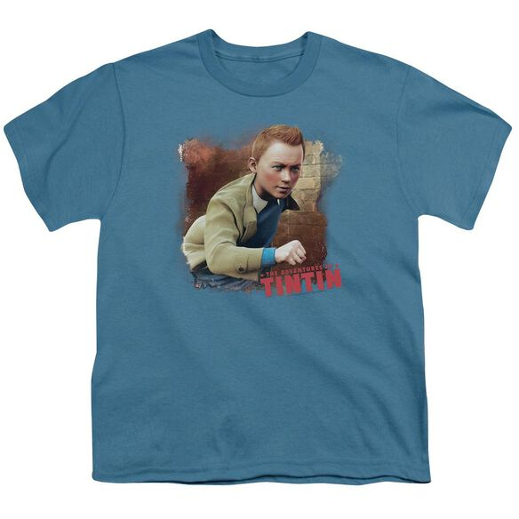 Tintin Title Short Sleeve Youth T-Shirt