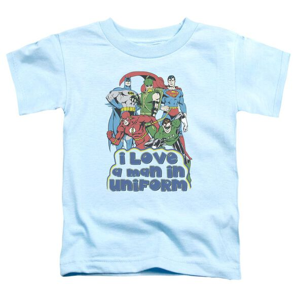 Dc I Love A Man In Uniform Short Sleeve Toddler Tee Light Blue Sm T-Shirt