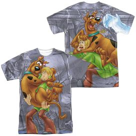 Scooby Doo Scooby And Shaggy (Front Back Print) Short Sleeve Adult Poly Crew T-Shirt
