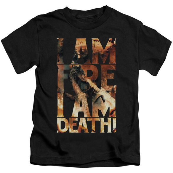 Hobbit I Am Fire Short Sleeve Juvenile T-Shirt