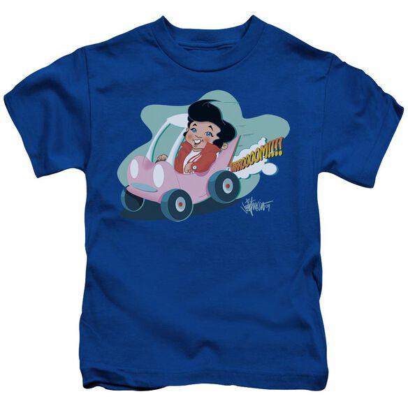 Elvis Speedway Short Sleeve Juvenile Royal Blue Md T-Shirt