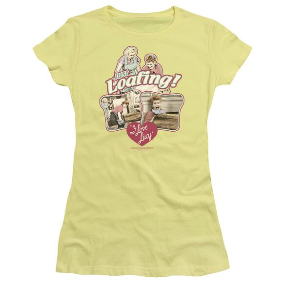 I Love Lucy Just Loafing Short Sleeve Junior Sheer T-Shirt