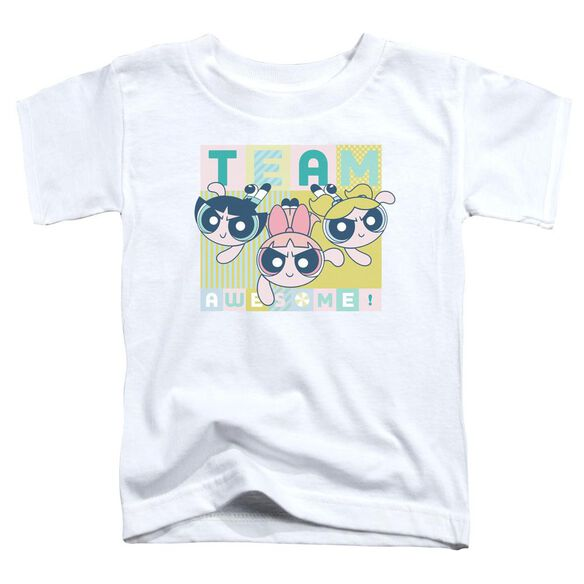 Powerpuff Girls Awesome Block Short Sleeve Toddler Tee White T-Shirt