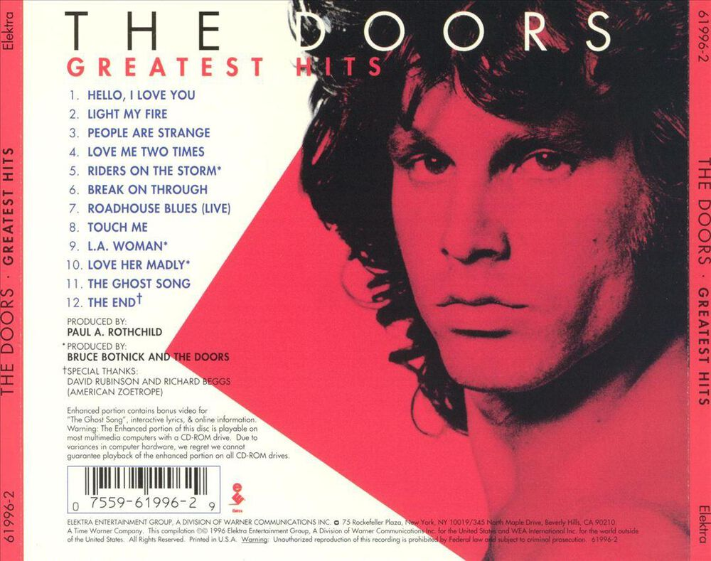 Greatest Hits By The Doors Used On Cd Fye