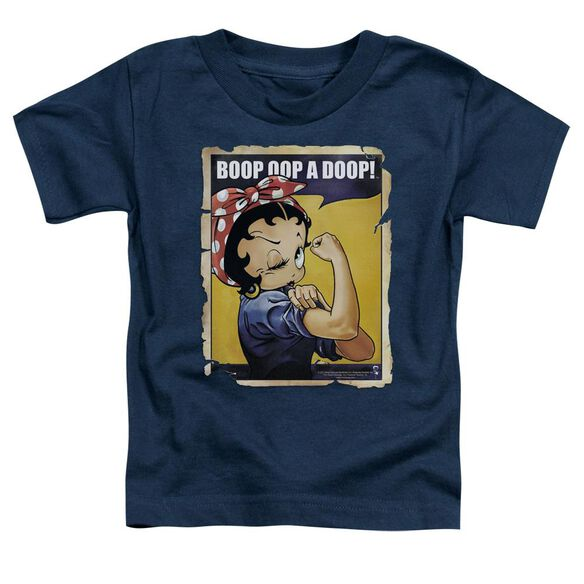 Betty Boop Power Short Sleeve Toddler Tee Navy Md T-Shirt