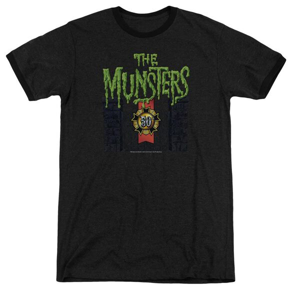 The Munsters 50 Year Logo Adult Heather Ringer