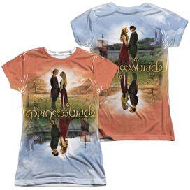 Princess Bride Poster Sub (Front Back Print) Short Sleeve Junior Poly Crew T-Shirt