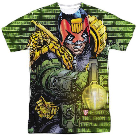 Judge Dredd Matrix Short Sleeve Adult Poly Crew T-Shirt
