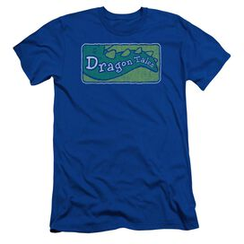 Dragon Tales Logo Distressed Short Sleeve Adult Royal T-Shirt