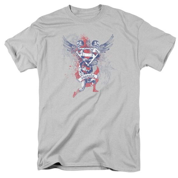 SUPERMAN JUSTICE UPHELD - S/S ADULT 18/1 - SILVER T-Shirt