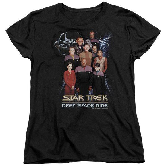 Star Trek Ds9 Crew Short Sleeve Womens Tee T-Shirt
