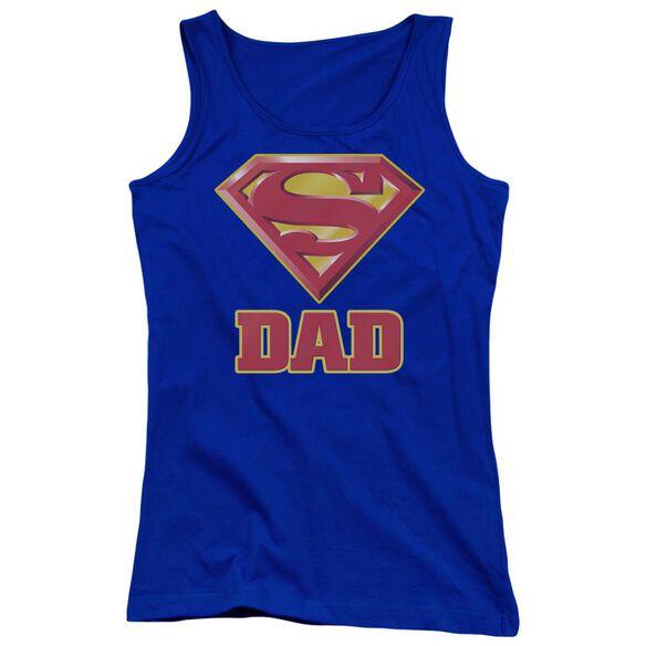 Superman Super Dad Juniors Tank Top Royal