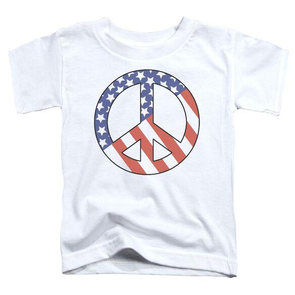 Patriot Peace Short Sleeve Toddler Tee White Lg T-Shirt