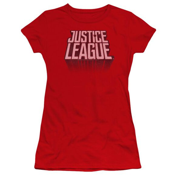 Justice League Movie League Distressed Hbo Short Sleeve Junior Sheer T-Shirt