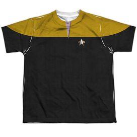 Star Trek Voyager Engineering Uniform Short Sleeve Youth Poly Crew T-Shirt