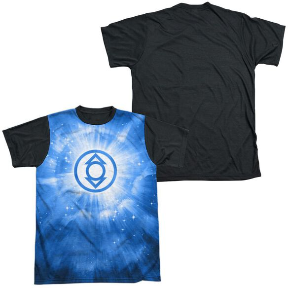 Green Lantern Indigo Energy Short Sleeve Adult Front Black Back T-Shirt