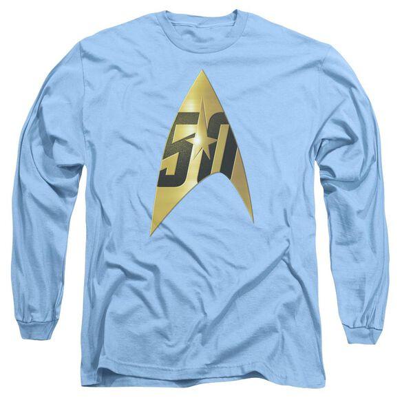 Star Trek 50 Th Anniversary Delta Long Sleeve Adult Carolina T-Shirt