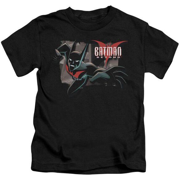 Batman Beyond Out Of The Frame Short Sleeve Juvenile Black T-Shirt