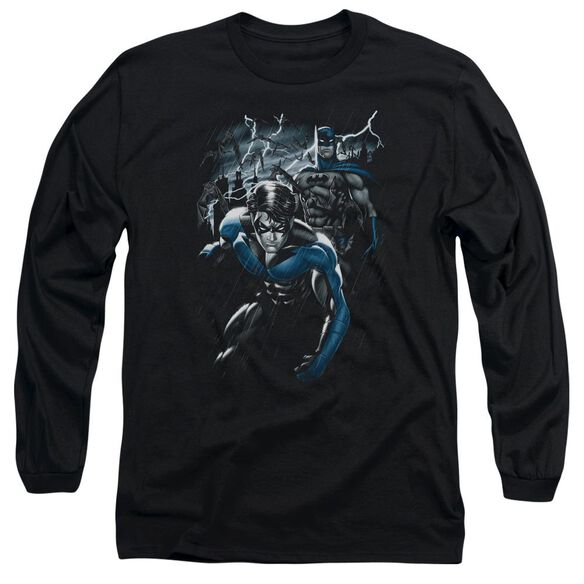 BATMAN DYNAMIC DUO - L/S ADULT 18/1 - BLACK T-Shirt