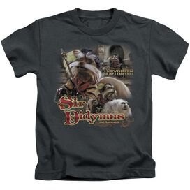 Labyrinth Sir Didymus Short Sleeve Juvenile Charcoal T-Shirt