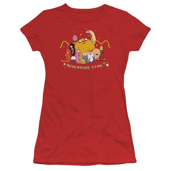 Adventure Time Outstretched Short Sleeve Junior Sheer T-Shirt