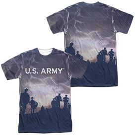 Army Up Hill (Front Back Print) Short Sleeve Adult Poly Crew T-Shirt