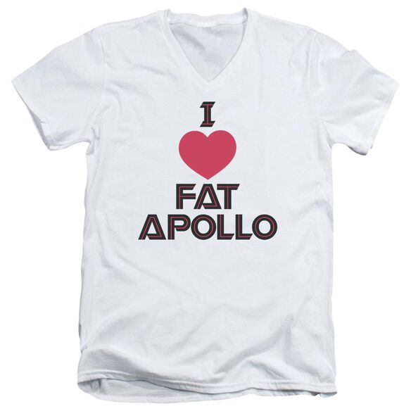 Bsg I Heart Fat Apollo Short Sleeve Adult V Neck T-Shirt