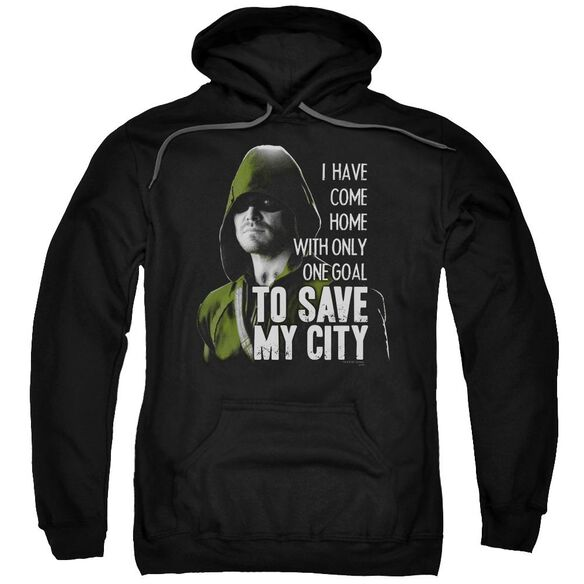 Arrow Save My City Adult Pull Over Hoodie