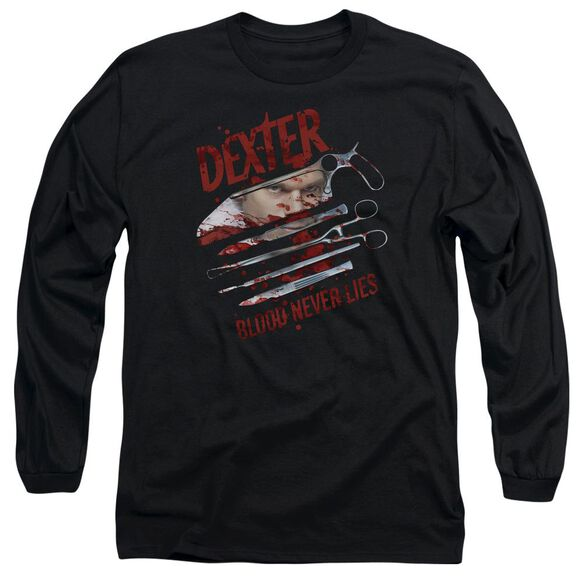 Dexter Blood Never Lies Long Sleeve Adult T-Shirt