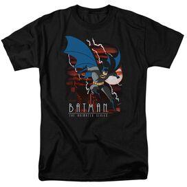 Batman The Animated Series Lightning Strikes Short Sleeve Adult Black T-Shirt