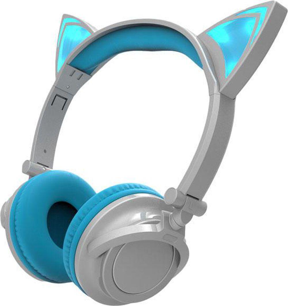 Sharper Image Bluetooth Wireless Earbuds: Sharper Image Bluetooth Cat Ear Headphones - Silver