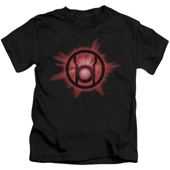 GREEN LANTERN RED GLOW - S/S JUVENILE 18/1 - BLACK - T-Shirt