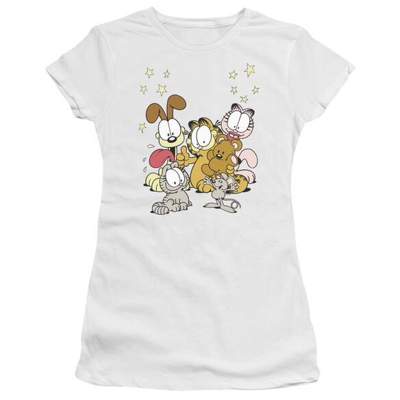 Garfield Friends Are Best Short Sleeve Junior Sheer T-Shirt