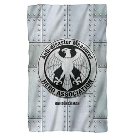 One Punch Man Hero Association Fleece Blanket