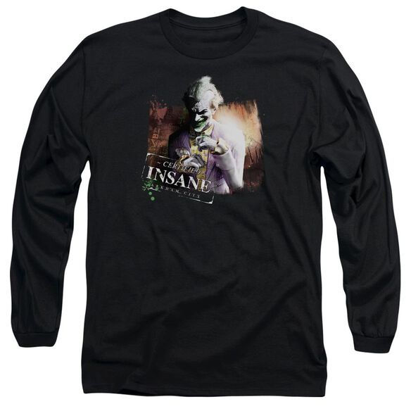 Arkham City Certified Insane Long Sleeve Adult T-Shirt