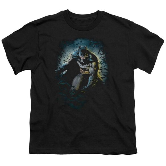 Batman Bat Cave Short Sleeve Youth T-Shirt