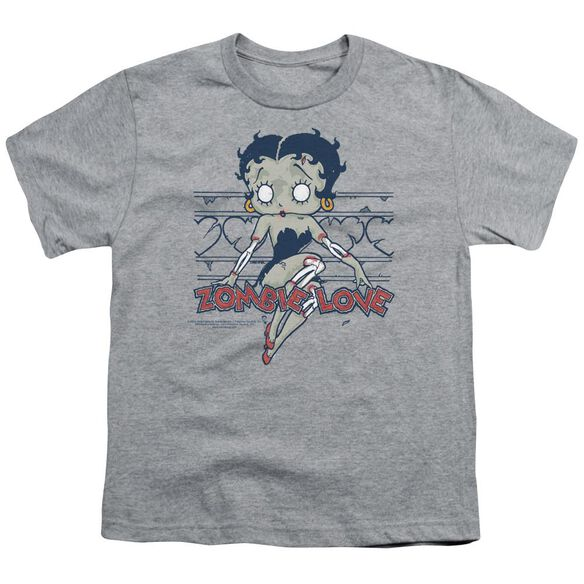 Betty Boop Zombie Pinup Short Sleeve Youth Athletic T-Shirt