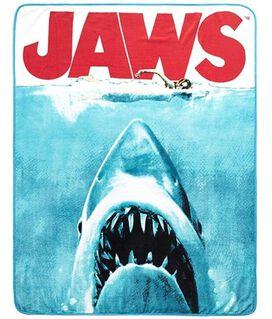 Jaws Movie Poser Sneak Attack Plush Throw Blanket