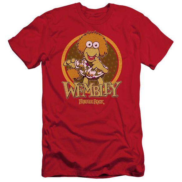 Fraggle Rock Wembley Circle Short Sleeve Adult T-Shirt
