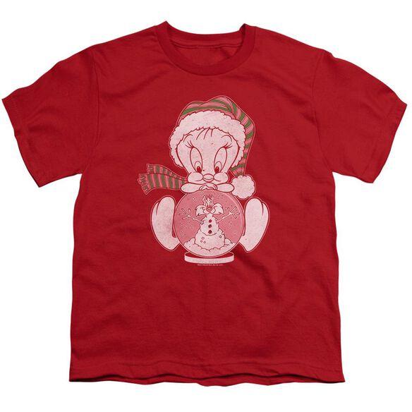 Looney Tunes Tweey Globe Short Sleeve Youth T-Shirt