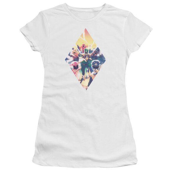 Power Rangers Sdcc Ranger Diamond 1 Hbo Short Sleeve Junior Sheer T-Shirt