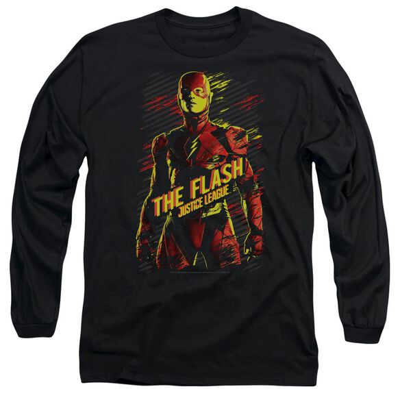 Justice League Movie The Flash Long Sleeve Adult T-Shirt