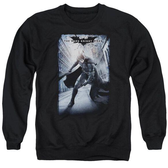 Dark Knight Rises Crumbled Poster Adult Crewneck Sweatshirt