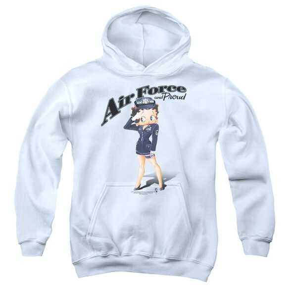 Betty Boop Air Force Boop Youth Pull Over Hoodie