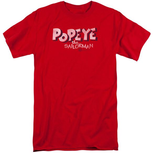 Popeye 3 D Logo Short Sleeve Adult Tall T-Shirt
