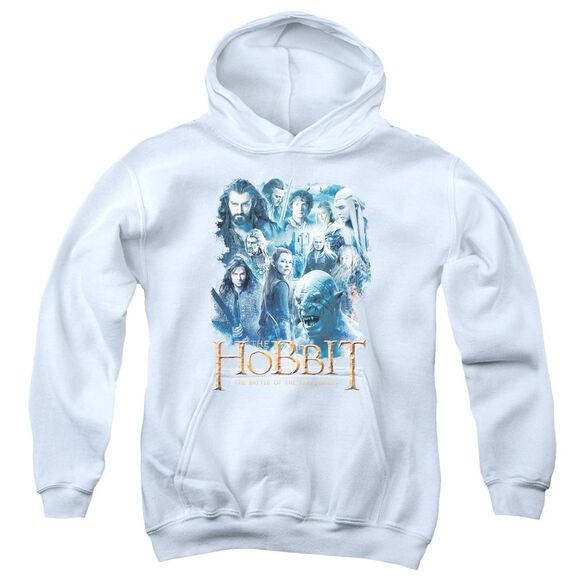 Hobbit Main Characters Youth Pull Over Hoodie